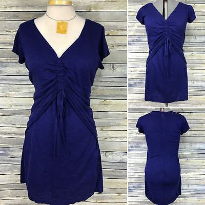 Eric Alexander Womens Clothing lot Outfit Necklace and Dress Blue V-Neck Size La