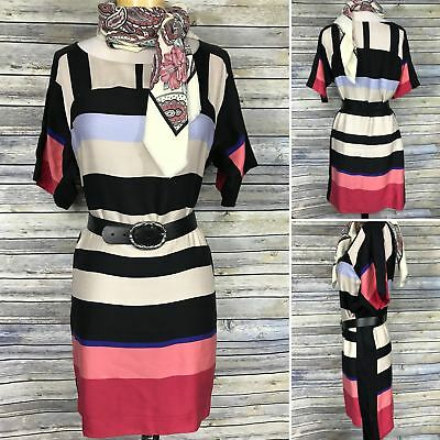 Ann Taylor Womens Clothing lot Outfit Shift Dress Pink Stripes Size Medium WW12