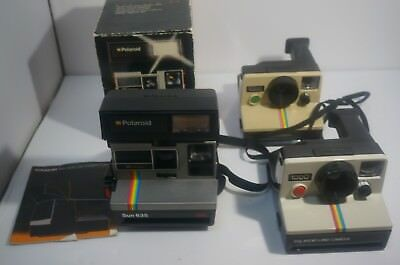 polaroid supercolor 635 Land Camera 1000 x2  Not tested For Parts Sold as seen
