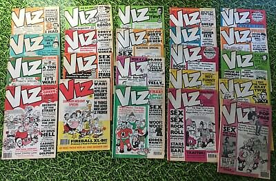 Rare Large Viz  Comic collection  of 22 very early issues matt covers (37 -> 59)