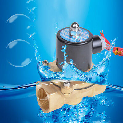 """2W Coil DC 12V 1/2"""" Electric Solenoid Valve Water Air Normal Closed N/C New E09"""