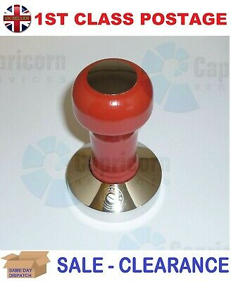 Crema Pro Red Wooden Espresso Professional Coffee Tamper 57Mm Flat Base