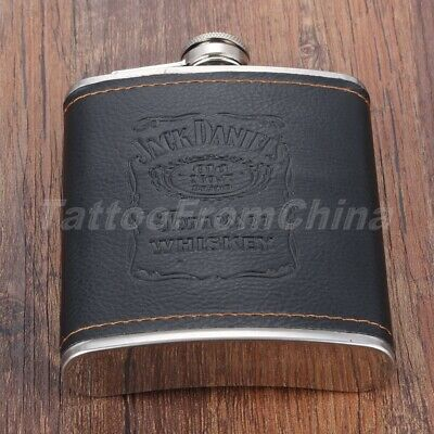 Steel Engraved Liquor Hip Flask Outdoor Whiskey Alcohol Wine Flagon Bottle 7oz