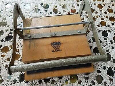 Vintage Weber Letter-Press Type Printing Ink Applicator  # 104087