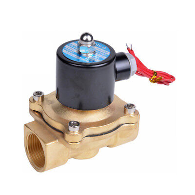"""2W Coil DC 12V 1/2"""" Electric Solenoid Valve Water Air Normal Closed N/C New HJ"""