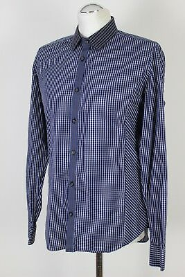 cdbb0cea8df78c TED BAKER Mens BULCAMP Checked TAPERED FIT SHIRT - Ted Size 3 - Medium - M