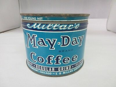 Vintage May-Day Brand  Coffee Tin Advertising Collectible Graphics  M-01