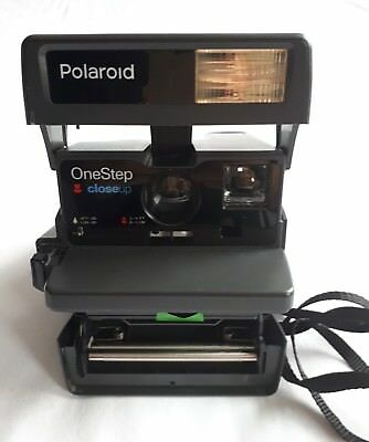 Vintage Polaroid One Step Close Up 600 Instant Film Camera Black  UNTESTED