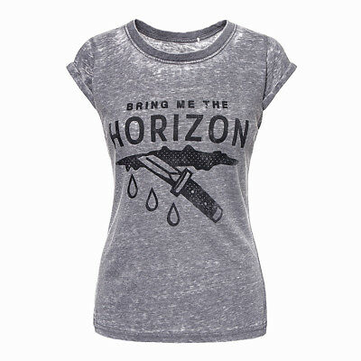 Official T Shirt BRING ME THE HORIZON Charcoal WOUND BURNOUT Band Tee All Sizes
