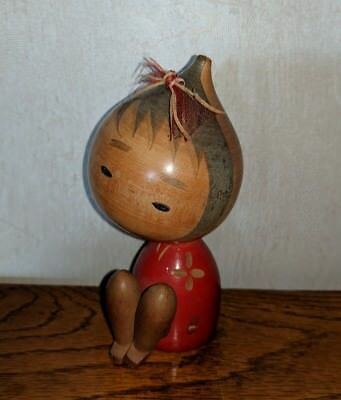 "5"" Child/Girl Vintage Japanese Kokeshi Hand Crafted Doll"