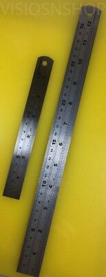 Stainless Steel Ruler - Craft Cutting Guide - Imperial Metric 6 or 12 Inch Metal
