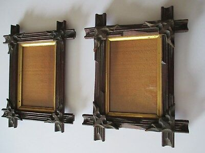 ANTIQUE EASTLAKE Adirondack style Pair of Picture Frames - $35.00 ...