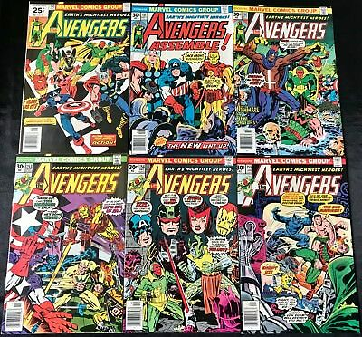 Lot Of 6 The Avengers Comics (Marvel,1976/1977) #150-155 Bronze Age