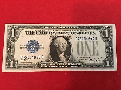 1928 B  $1 SILVER CERTIFICATE FUNNY BACK *** Nice *****