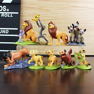 9pcs Disney Movie The Lion King Simba Cake Toppers Figure Doll Set Kids Toy Gift