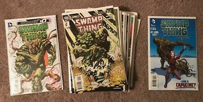 DC New 52 Lot Swamp Thing #'s 1-28, #0, #23.1, Annuals, & Blank Variants NM/NM+