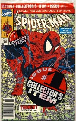 SPIDER-MAN #1 1990 REGULAR Green NEWSTAND BAGGED EDITION NM+ 9.6 TODD MCFARLANE