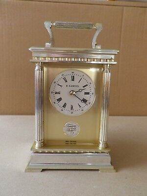 Vintage Carriage Clock By H.samuel.tempus Fusile