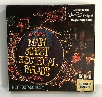 WALT DISNEY MAIN STREET ELECTRICAL PARADE Super 8mm Color Sound Movie
