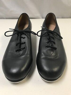 BLOCH Techno Tap Shoes Black Leather Upper & Sole Cotton Lining Size 9, Laceup
