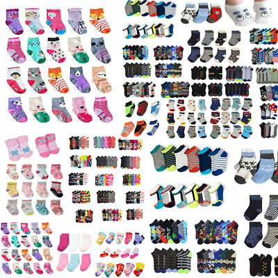 Baby Boy Girl Toddler Kids Children Assorted Styles Ankle Socks Lots Wholesale