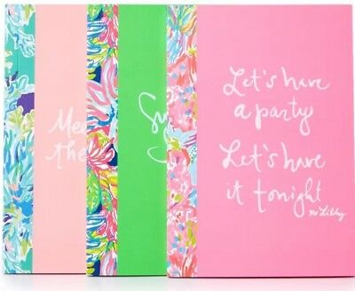 Lilly Pulitzer Notebook 3 Pack Set. new in package ! Stationary. printed. Neon