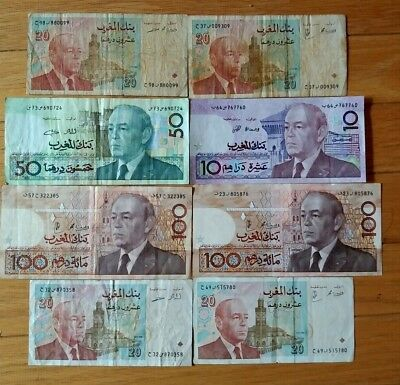8 Banknotes 340 Dirhams from Morocco