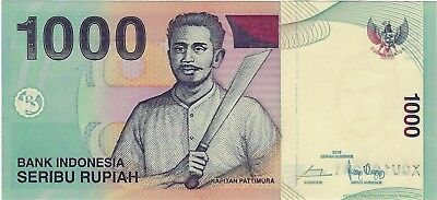 "Indonesia, 2000 / 2016 1,000 Rupiah PUnl1000c*  ""Replacement""  ((Unc))"