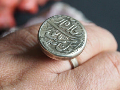 antik  Siegel Ring islamische arabische Münze islamic silver coin Ring Nr:393