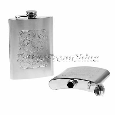 Engraved Silver Pocket Liquor Whiskey Alcohol Wine Flagon Bottle Hip Flask 1pc