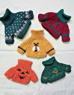 LOT OF 5 - Boyds Bear 1990's Collection Wool Pullover Sweaters - Various colors