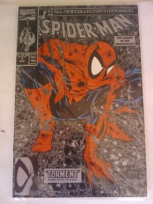 Spider-Man #1 (Aug 1990, Marvel) SILVER  MCFARLANE TORMENT NM NM+