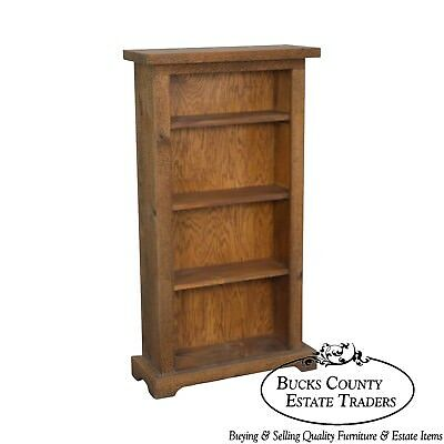 Rustic Solid Wood Narrow Bookcase