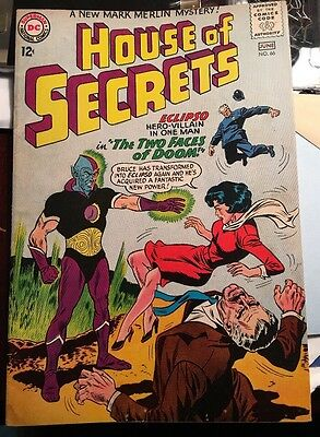 HOUSE OF SECRETS #66 1ST ECLIPSO COVER ! DC 1964. Nice Book For Collection