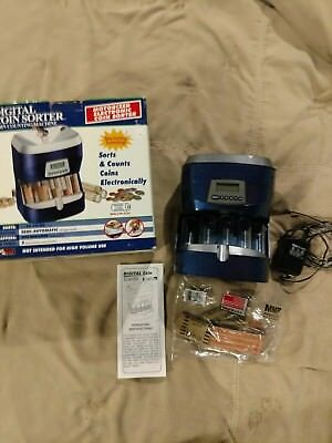 Digital Coin Sorter Electric Coin Counter and Sorter by Magnif #4860