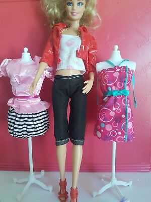Barbie Clothes dress skirt pants  x3 outfits and x4  shoes     lot 2