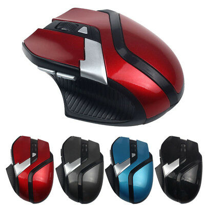 1600DPI 2.4GHz 6 Buttons Wireless USB Optical Game Mouse Mice For PC Laptop