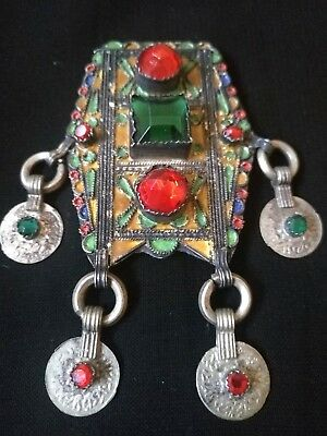 Antique Old Silver Traditional Moroccan Berber For Pendant - Amazing
