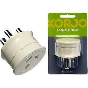 Korjo Travel Plug Adapter Adaptor Charger From Australia to India For AU AUS NZ