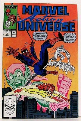 """MARVEL ACTION UNIVERSE"" #1 (Jan 1989) Comic f. SPIDER-MAN & HIS AMAZING FRIENDS"