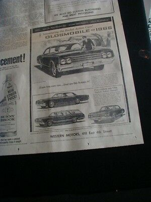 vintage 1964 oldsmobile cutlass newspaper ad dynamic 88 holiday coupe