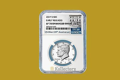 2017 S CLAD KENNEDY HALF DOLLAR 50c NGC SP70 ENHANCED FINISH EARLY RELEASES