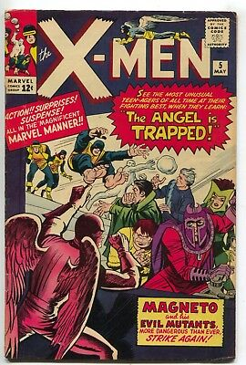 Uncanny X-Men 5 Marvel 1964 FN Quicksilver Scarlet Witch Magneto Jean Grey