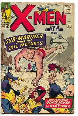 Uncanny X-Men 6 Marvel 1964 VG FN Quicksilver Scarlet Witch Magneto