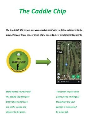 Golf GPS system Caddie Chip Search Youtube 'Caddie Chip Introduction'