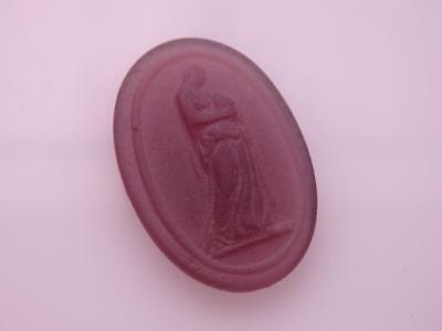 AGRIPPINA purple VENETIAN CAMEO*Tassie*Grand Tour*Loose unset TAGLIAMONTE