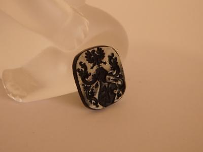 EAGLE COAT of ARMS black VENETIAN INTAGLIO*Tassie Cameo*Loose unset TAGLIAMONTE