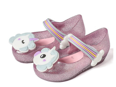 2018 Mini Melissa Girl's Ultragirl Unicorn Party Shoes Baby PVC Fashion Sandals
