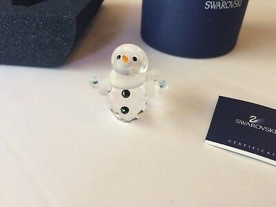 SWAROVSKI Crystal - LITTLE SNOWMAN Figurine - Mint in Box with COA