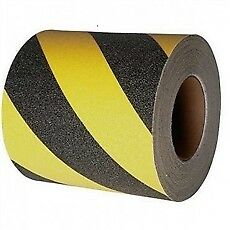 Anti-Slip Tape 150mm - Hazard Stripe Black/Yellow